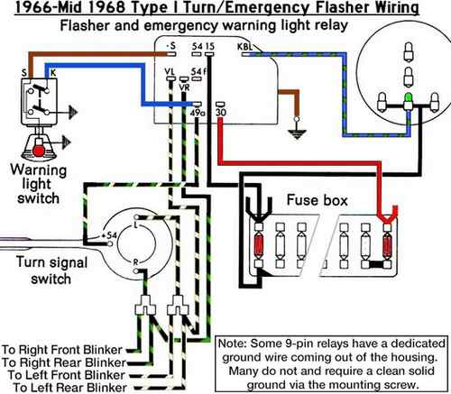 66 67TurnSignals thesamba com beetle 1958 1967 view topic 67 blue blinker blinker wiring diagram at n-0.co
