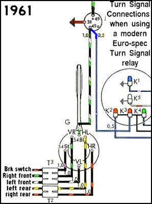 1961TSmodernRelay thesamba com beetle 1958 1967 view topic turn signal vw turn signal wiring diagram at creativeand.co