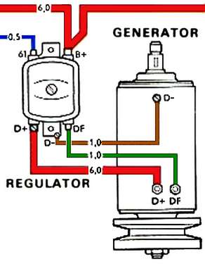vw van generator wiring thesamba.com :: beetle - 1958-1967 - view topic ... 12 volt generator wiring diagram vw vw