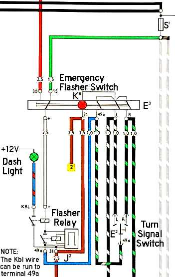 1968 Vw Beetle Flasher Relay Wiring Diagram