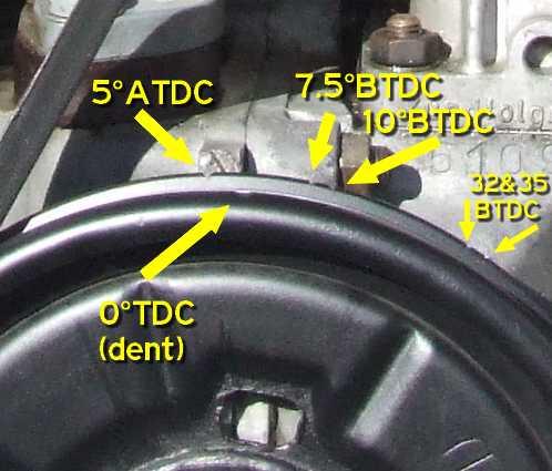 Timingmarksredone on 1974 Vw Super Beetle Engine
