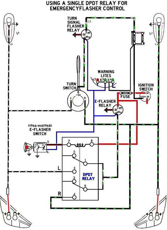 Dpdtrelayfore Flashers on electrical wiring diagrams for dummies