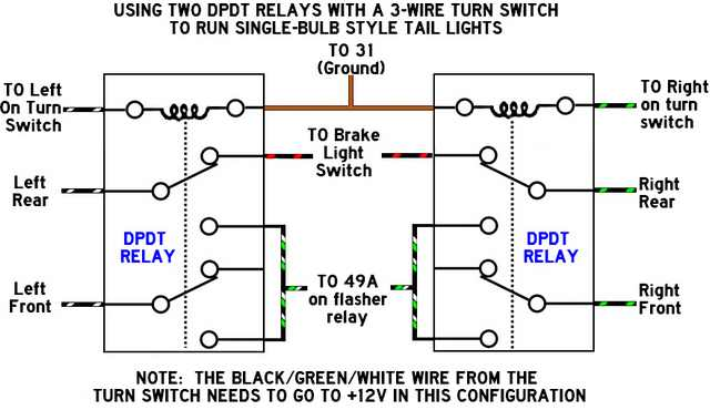 relay pole switch wiring diagram
