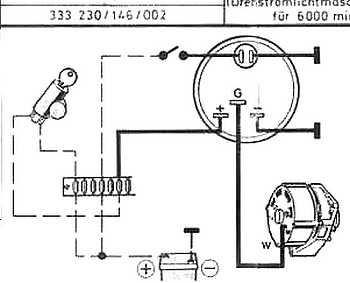 VDO tachG to W terminal thesamba com beetle 1958 1967 view topic vdo tach does vdo tachometer wiring diagram at reclaimingppi.co
