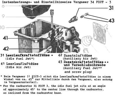 Solex H30 31 Carb Diagram