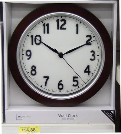 Wall Clock With Fhwa Highway Gothic Series D Numbers