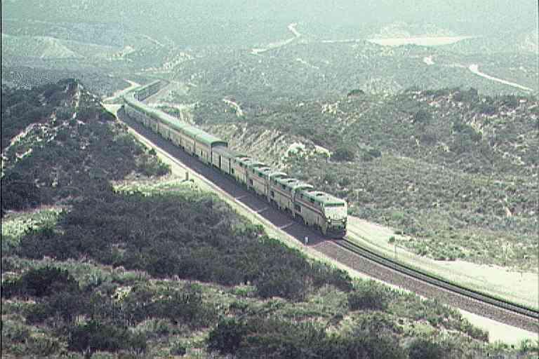 Amtrak below the Cajon Summit